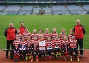 15 April 2019; The Cappagh team, Co. Kildare, during the LGFA U10 Go Games Activity Day at Croke Park in Dublin. Photo by Harry Murphy/Sportsfile