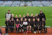 15 April 2019; The Walterstown team, Co. Meath, during the LGFA U10 Go Games Activity Day at Croke Park in Dublin. Photo by Harry Murphy/Sportsfile