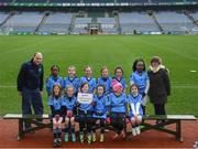 15 April 2019; The Longford Slashers team, Co. Longford, during the LGFA U10 Go Games Activity Day at Croke Park in Dublin. Photo by Harry Murphy/Sportsfile