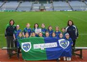 15 April 2019; The Sylvesters team, Co. Dublin, during the LGFA U10 Go Games Activity Day at Croke Park in Dublin. Photo by Harry Murphy/Sportsfile