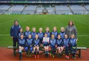 15 April 2019; The An Tochar team, Co. Wicklow, during the LGFA U10 Go Games Activity Day at Croke Park in Dublin. Photo by Harry Murphy/Sportsfile