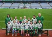 15 April 2019; The Baltinglass team, Co. Wicklow, during the LGFA U10 Go Games Activity Day at Croke Park in Dublin. Photo by Harry Murphy/Sportsfile