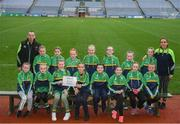 15 April 2019; The Kilcock team, Co. Kildare, during the LGFA U10 Go Games Activity Day at Croke Park in Dublin. Photo by Harry Murphy/Sportsfile