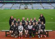 15 April 2019; The Magheracloone team, Co. Monaghan, during the LGFA U10 Go Games Activity Day at Croke Park in Dublin. Photo by Harry Murphy/Sportsfile
