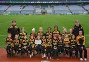 15 April 2019; The heath team, Co. Laois, during the LGFA U10 Go Games Activity Day at Croke Park in Dublin. Photo by Harry Murphy/Sportsfile