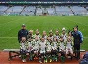 15 April 2019; The St Peters team, Co. Dublin, during the LGFA U10 Go Games Activity Day at Croke Park in Dublin. Photo by Harry Murphy/Sportsfile