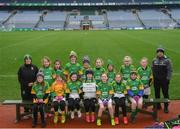 15 April 2019; The Na Piarsaigh Óga team, Co. Armagh, during the LGFA U10 Go Games Activity Day at Croke Park in Dublin. Photo by Harry Murphy/Sportsfile