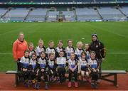 15 April 2019; The Ballymore team, Co. Longford, during the LGFA U10 Go Games Activity Day at Croke Park in Dublin. Photo by Harry Murphy/Sportsfile