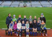 15 April 2019; The Wolfe Tones team, Co. Louth, during the LGFA U10 Go Games Activity Day at Croke Park in Dublin. Photo by Harry Murphy/Sportsfile