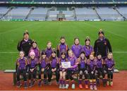 15 April 2019; The Carryduff team, Co. Down, during the LGFA U10 Go Games Activity Day at Croke Park in Dublin. Photo by Harry Murphy/Sportsfile