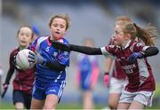 15 April 2019; Action during the match between  Four Masters, Co. Donegal, and Shamrock Gaels, Co. Sligo during the LGFA U10 Go Games Activity Day at Croke Park in Dublin. Photo by Harry Murphy/Sportsfile