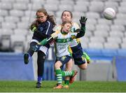 15 April 2019; Action during the match between Kerins O'Rahillys, Co. Kerry, and Delanys, Co. Cork, during the LGFA U10 Go Games Activity Day at Croke Park in Dublin. Photo by Harry Murphy/Sportsfile