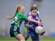 15 April 2019; Action during the match between Four Masters, Co. Donegal, and  Kilrush, Co. Clare, during the LGFA U10 Go Games Activity Day at Croke Park in Dublin. Photo by Harry Murphy/Sportsfile
