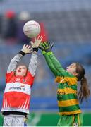 15 April 2019; Action during the match between Edendork, Co. Tyrone, and Galtee Rovers, Co. Tipperary, during the LGFA U10 Go Games Activity Day at Croke Park in Dublin. Photo by Harry Murphy/Sportsfile