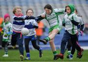 15 April 2019; Action during the match between  Baltinglass, Co. Wicklow, and Dromintee St Patricks, Co. Armagh, during the LGFA U10 Go Games Activity Day at Croke Park in Dublin. Photo by Harry Murphy/Sportsfile