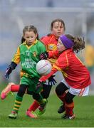 15 April 2019; Action during the match between Davidstown/ Courtnacuddy, Co. Wexford, and  Park/ Ratheniska, Co. Laois, during the LGFA U10 Go Games Activity Day at Croke Park in Dublin. Photo by Harry Murphy/Sportsfile