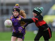 15 April 2019; Action during the match between Carryduff, Co. Down, and Mount Leinster Rangers, Co. Carlow, during the LGFA U10 Go Games Activity Day at Croke Park in Dublin. Photo by Harry Murphy/Sportsfile