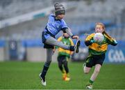 15 April 2019; Action during the match between St Annes, Co. Wexford and Cooly Kickhams, Co. Louth, during the LGFA U10 Go Games Activity Day at Croke Park in Dublin. Photo by Harry Murphy/Sportsfile