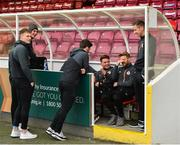 15 April 2019; St Patrick's Athletic players prior to the SSE Airtricity League Premier Division match between St Patrick's Athletic and Derry City at Richmond Park in Dublin. Photo by Seb Daly/Sportsfile