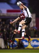 15 April 2019; Seán Hoare of Dundalk in action against Ryan Swan of Bohemians during the SSE Airtricity League Premier Division match between Dundalk and Bohemians at Oriel Park in Dundalk, Louth. Photo by Stephen McCarthy/Sportsfile