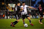 15 April 2019; Jamie McGrath of Dundalk in action against Keith Buckley of Bohemians during the SSE Airtricity League Premier Division match between Dundalk and Bohemians at Oriel Park in Dundalk, Louth. Photo by Stephen McCarthy/Sportsfile