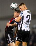 15 April 2019; Daniel Cleary of Dundalk in action against Ryan Swan of Bohemians during the SSE Airtricity League Premier Division match between Dundalk and Bohemians at Oriel Park in Dundalk, Louth. Photo by Stephen McCarthy/Sportsfile