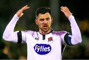 15 April 2019; Goalscorer Patrick Hoban of Dundalk celebrates after the SSE Airtricity League Premier Division match between Dundalk and Bohemians at Oriel Park in Dundalk, Louth. Photo by Stephen McCarthy/Sportsfile