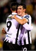 15 April 2019; Jamie McGrath, right, and Patrick Hoban of Dundalk celebrate after the SSE Airtricity League Premier Division match between Dundalk and Bohemians at Oriel Park in Dundalk, Louth. Photo by Stephen McCarthy/Sportsfile
