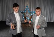 15 April 2019; Sean O'Shea of UCC, left, and Shane Conway of UCC, both from Co. Kerry, who were named Electric Ireland HE GAA Rising Star Footballer and Hurler of the Year 2019 respectively. The Electric Ireland HE GAA Rising Star Awards was hosted by Electric Ireland Sigerson and Fitzgibbon winners UCC where the overall Footballer and Hurler of the Year were announced as well as the overall Football and Hurling team of the Year for the Electric Ireland Sigerson, Fitzgibbon and Higher Education Championships. #FirstClassRivals Photo by Diarmuid Greene/Sportsfile