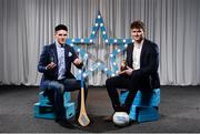 15 April 2019; Evan Niland of NUIG who was named in the Electric Ireland HE GAA Rising Star Hurling Team of the Year, left, and Kevin McDonnell of NUIG who was named in the Electric Ireland HE GAA Rising Star Football Team of the Year. The Electric Ireland HE GAA Rising Star Awards was hosted by Electric Ireland Sigerson and Fitzgibbon winners UCC where the overall Footballer and Hurler of the Year were announced as well as the overall Football and Hurling team of the Year for the Electric Ireland Sigerson, Fitzgibbon and Higher Education Championships. #FirstClassRivals Photo by Diarmuid Greene/Sportsfile