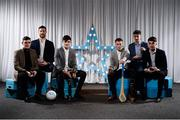 15 April 2019; UCC students, all from Co. Kerry, who were named in the Electric Ireland HE GAA Rising Star Football and Hurling Teams of the Year 2019, from left, Graham O'Sullivan, Padraig Lucey, Sean O'Shea, Shane Conway, Daniel O'Brien, and Brian Ó Beaglaoích. The Electric Ireland HE GAA Rising Star Awards was hosted by Electric Ireland Sigerson and Fitzgibbon winners UCC where the overall Footballer and Hurler of the Year were announced as well as the overall Football and Hurling team of the Year for the Electric Ireland Sigerson, Fitzgibbon and Higher Education Championships. #FirstClassRivals Photo by Diarmuid Greene/Sportsfile