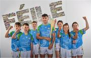 16 April 2019; John West Ambassador and Limerick Hurler with attendees from Lucan, Co. Dublin, at the launch of the 2019 John West Féile at Croke Park in Dublin. John West has been a sponsor of the Féile since 2016 and today announced it will continue its support for a further four seasons until 2022. John West is passionate about encouraging children to participate in Gaelic Games and puts an emphasis on the importance natural protein plays in fuelling young athletes #YourNaturalProteinPitstop. Photo by Sam Barnes/Sportsfile