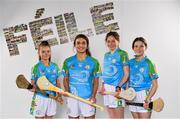 16 April 2019; John West Ambassador and Kilkenny Camogie player Anna Farrell, second from left, with from left, Aoibheann Stokes, Millie Hughes and Mia Rooney, from Lucan, Co. Dublin,  at the launch of the 2019 John West Féile at Croke Park in Dublin. John West has been a sponsor of the Féile since 2016 and today announced it will continue its support for a further four seasons until 2022. John West is passionate about encouraging children to participate in Gaelic Games and puts an emphasis on the importance natural protein plays in fuelling young athletes #YourNaturalProteinPitstop. Photo by Sam Barnes/Sportsfile