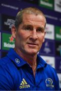16 April 2019; Senior coach Stuart Lancaster during a Leinster Rugby press conference at Leinster Rugby Headquarters in UCD, Dublin. Photo by David Fitzgerald/Sportsfile