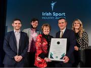 15 April 2019; Garrett Fitzgerald, Munster Rugby CEO, second from right with his family after winning the Outstanding Contribution Award during the Irish Sport Industry Awards presented by the Federation of Irish Sport at Crowne Plaza Blanchardstown. Photo by Sam Barnes/Sportsfile