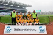 16 April 2019; Ardnaree Sarsfields, Mayo, at the Littlewoods Ireland Go Games Provincial Days in Croke Park. This year over 6,000 boys and girls aged between six and twelve represented their clubs in a series of mini blitzes and – just like their heroes – got to play in Croke Park, Dublin.  Photo by Eóin Noonan/Sportsfile