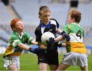 17 April 2019; Conor McDonagh of Tubbercurry/Cloonacool GAA, Co. Sligo, centre, in action against Bryan McGann, left, and Evan McNeill of Oran GAA, Co. Roscommon, during the Littlewoods Ireland Go Games Provincial Days in Croke Park. This year over 6,000 boys and girls aged between six and twelve represented their clubs in a series of mini blitzes and – just like their heroes – got to play in Croke Park, Dublin. Photo by Seb Daly/Sportsfile
