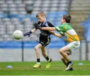 17 April 2019; Action from the game between Tubbercurry/Cloonacool GAA, Co. Sligo, and Oran GAA, Co. Roscommon, during the Littlewoods Ireland Go Games Provincial Days in Croke Park. This year over 6,000 boys and girls aged between six and twelve represented their clubs in a series of mini blitzes and – just like their heroes – got to play in Croke Park, Dublin. Photo by Seb Daly/Sportsfile