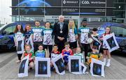 17 April 2019; In attendance is Declan Duecey, Lord Mayor of Waterford City and County, with players, from left, Waterford hurler Noel Connors, Dublin footballer Lyndsey Davey, Waterford camogie player Niamh Murphy and Westmeath footballer Boidu Sayeh and children from various Waterford GAA clubs during the Waterford Launch of the Renault GAA World Games 2019 at the WIT Arena in Carriganore, Waterford. Photo by David Fitzgerald/Sportsfile