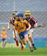 17 April 2019; Jody Canning, nephew of Galway senior hurler Joe Canning, representing Portumna GAA Club, Co. Galway, in action during the Littlewoods Ireland Go Games Provincial Days in Croke Park. This year over 6,000 boys and girls aged between six and twelve represented their clubs in a series of mini blitzes and – just like their heroes – got to play in Croke Park, Dublin. Photo by Seb Daly/Sportsfile