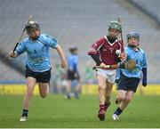 17 April 2019; Action from the game between Clarinbridge GAA, Co. Galway and Ballygar Hurling Club, Co. Galway during the Littlewoods Ireland Go Games Provincial Days in Croke Park. This year over 6,000 boys and girls aged between six and twelve represented their clubs in a series of mini blitzes and – just like their heroes – got to play in Croke Park, Dublin. Photo by Seb Daly/Sportsfile