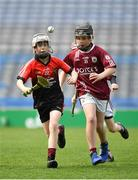 17 April 2019; Action from the game between Tommy Larkins GAA, Co. Galway, and St Mary's Athenry GAA, Co. Galway, during the Littlewoods Ireland Go Games Provincial Days in Croke Park. This year over 6,000 boys and girls aged between six and twelve represented their clubs in a series of mini blitzes and – just like their heroes – got to play in Croke Park, Dublin. Photo by Seb Daly/Sportsfile