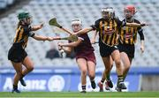 31 March 2019; Ailish O'Reilly of Galway in action against Kilkenny players, from left, Michelle Teehan, Niamh Deely, and Kellyanne Doyle during the Littlewoods Ireland Camogie League Division 1 Final match between Kilkenny and Galway at Croke Park in Dublin. Photo by Piaras Ó Mídheach/Sportsfile