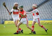 18 April 2019; Oliver Mirowski of Bruff GAA, CO. Limerick, in action against Conor Power and Tom O'Mahony of De La Salle GAA, Co. Waterford, during the Littlewoods Ireland Go Games Provincial Days in Croke Park. This year over 6,000 boys and girls aged between six and twelve represented their clubs in a series of mini blitzes and – just like their heroes – got to play in Croke Park, Dublin. Photo by Seb Daly/Sportsfile