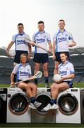 18 April 2019; Shane Mulligan of Mullinalaghta GAA Club, Longford, Grace Walsh of Tullaroan GAA Club, Kilkenny, left, Martin Kavanagh of St Mullins GAA Club, Carlow, centre, Lauren Magee of Kilmacud Crokes GAA Club, Dublin, and Conor McGill of Ratoath GAA Club, Meath, right, at the launch of the Beko Club Bua programme 2019, the quality mark for Leinster GAA clubs. For more information visit leinstergaa.ie/club-bua/. Photo by Stephen McCarthy/Sportsfile