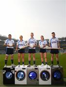 18 April 2019; Shane Mulligan of Mullinalaghta GAA Club, Longford, Grace Walsh of Tullaroan GAA Club, Kilkenny, Conor McGill of Ratoath GAA Club, Meath, Lauren Magee of Kilmacud Crokes GAA Club, Dublin, and Martin Kavanagh of St Mullins GAA Club, Carlow, at the launch of the Beko Club Bua programme 2019, the quality mark for Leinster GAA clubs. For more information visit leinstergaa.ie/club-bua/. Photo by Stephen McCarthy/Sportsfile