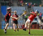 18 April 2019; Seanán Kirby of Corofin, Co. Clare in action against Conor Sherlock of Ballygunner, Co. Waterford, during the Littlewoods Ireland Go Games Provincial Days in Croke Park. This year over 6,000 boys and girls aged between six and twelve represented their clubs in a series of mini blitzes and – just like their heroes – got to play in Croke Park, Dublin. Photo by Seb Daly/Sportsfile