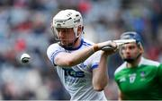 31 March 2019; Shane Bennett of Waterford passes under pressure from Mike Casey of Limerick during the Allianz Hurling League Division 1 Final match between Limerick and Waterford at Croke Park in Dublin. Photo by Piaras Ó Mídheach/Sportsfile