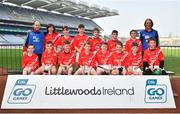18 April 2019; Corofin GAA, Co. Clare, during the Littlewoods Ireland Go Games Provincial Days in Croke Park. This year over 6,000 boys and girls aged between six and twelve represented their clubs in a series of mini blitzes and – just like their heroes – got to play in Croke Park, Dublin. Photo by Seb Daly/Sportsfile