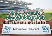 18 April 2019; Knockaderry GAA, Co. Limerick, during the Littlewoods Ireland Go Games Provincial Days in Croke Park. This year over 6,000 boys and girls aged between six and twelve represented their clubs in a series of mini blitzes and – just like their heroes – got to play in Croke Park, Dublin. Photo by Seb Daly/Sportsfile